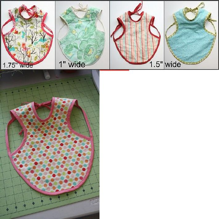 "super-cute and easy baby bib.  downloadable pattern.  ""Bapron""!"