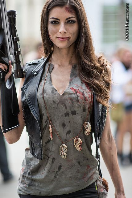 The female Daryl from the Walking Dead. I think this could be even more bad ass though.