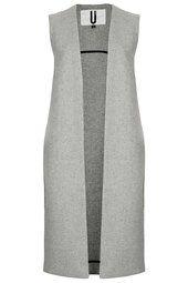 **Longline Wool Gilet by Unique