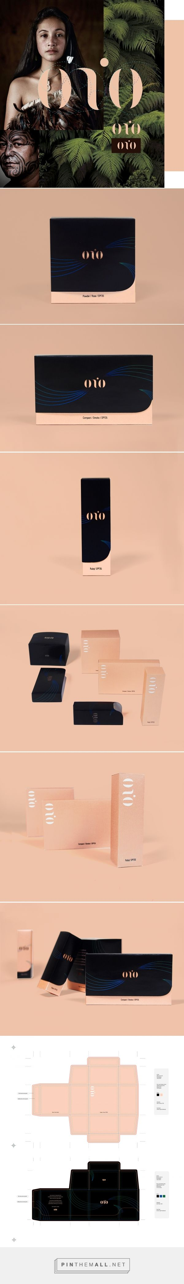 """onio"" cosmetic brand and packaging from New Zealand on Behance by Ze Tan (Zia) curated by Packaging Diva PD. Fragrance ­free and extracted from the essence of the ""monio"" plant, which is found only in New Zealand."