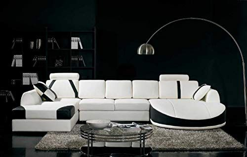 Best Seller Vig Furniture T57b Ultra Modern Sectional Sofa Online In 2020 Black And White Living Room Modern Leather Sectional Sofas Modern Sofa Sectional