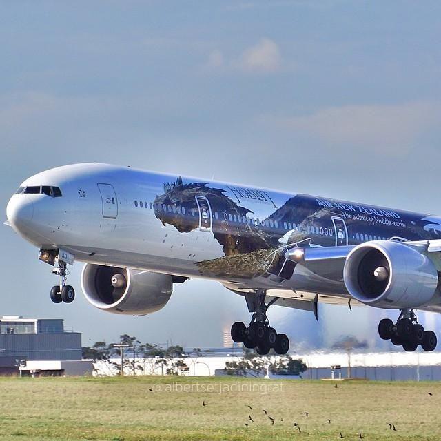 Airee Nueva Zelanda Boeing 777 en Melbourne Aeropuerto