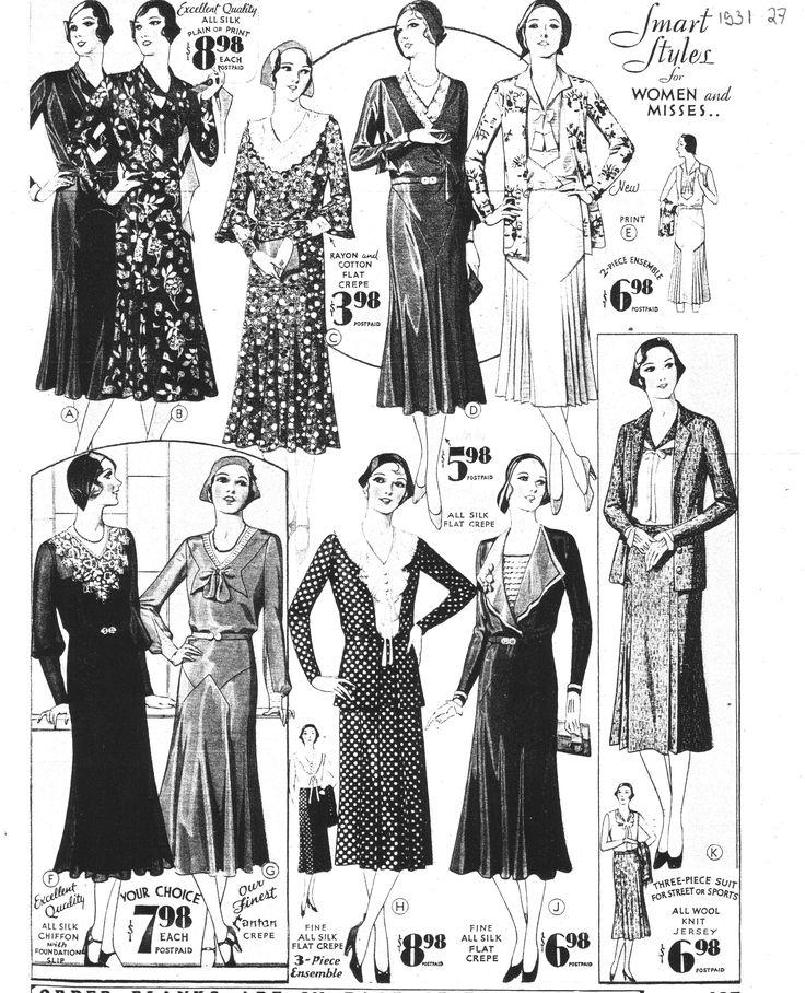 mode féminine des années 1930