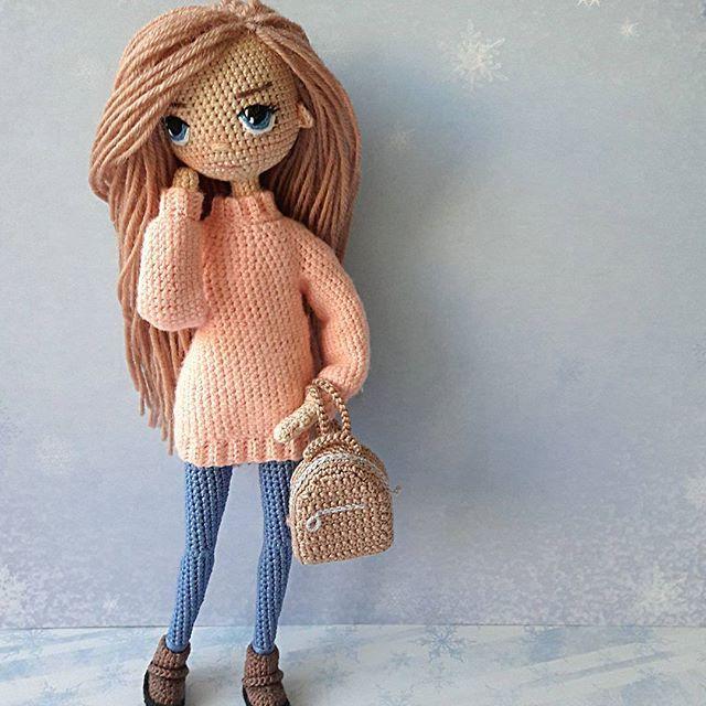 Всем приветик! Хорошего воскресного дня ! Куколка продается, цена 6000 ₽ Продана #zontik_lena #вязаныекуклы #куклакрючком