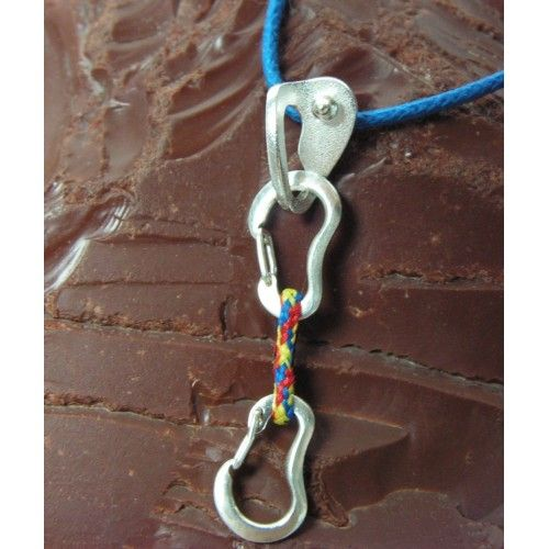 Necklace with #Quickdraw and Bolt Hanger Fully functional #carabiners  #klettern #karabiner