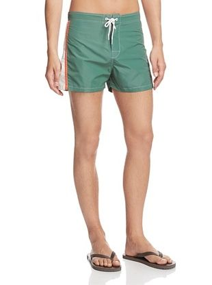 63% OFF Ecoalf Men's Formentera Trunk Shorts (Green/White/Orange)