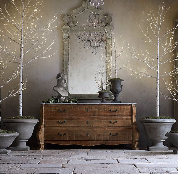Restoration Hardware Lit Birch Trees Seriously How Has It Taken Someone So Long To Do This So