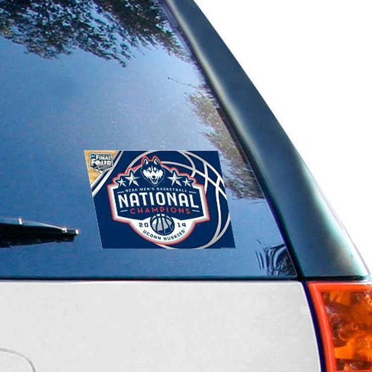 "WinCraft UConn Huskies 2014 NCAA Men's Basketball National Champions 4"" x 6"" Multi-Use Decal"