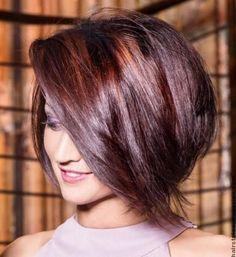 stacked bob long layered Bob Haircuts with Bangs Look Like A Real Fantasy