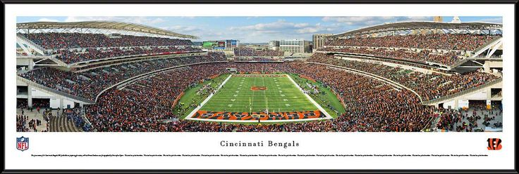 Cincinnati Bengals Panoramic - Paul Brown Stadium Picture Framed- End Zone