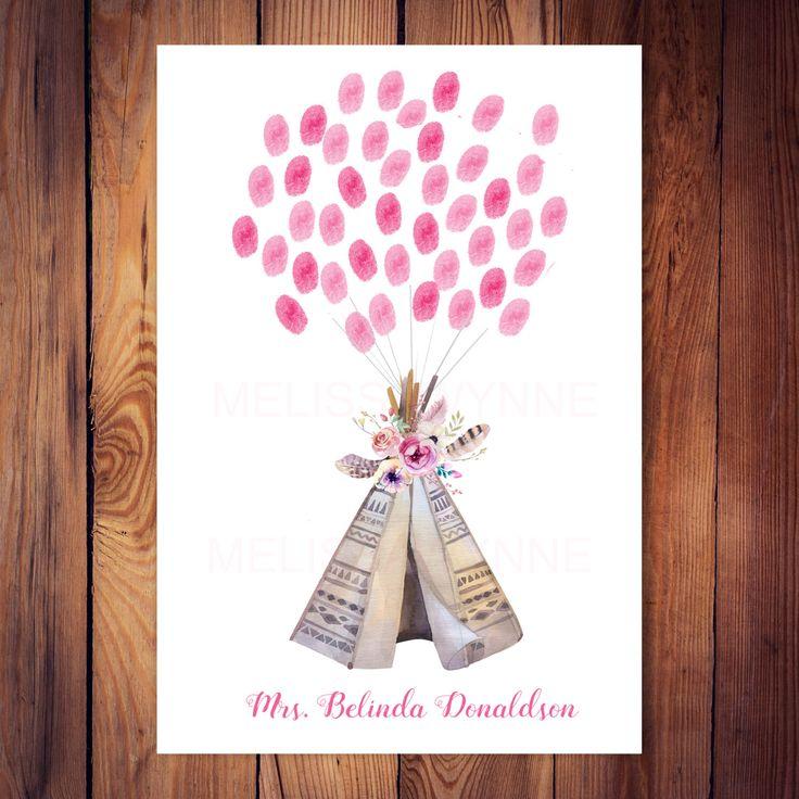 bridal shower keepsake book%0A Boho tribal guest book Alternative