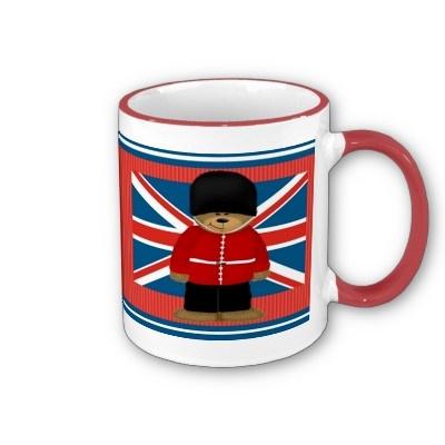 Royal Guard Bear #London Coffee Mug $16.90