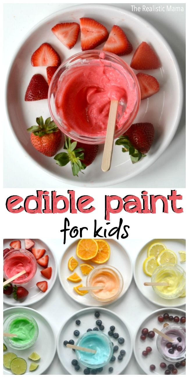 Edible Paint for Kids! It's as yummy as it looks! From @themamablog