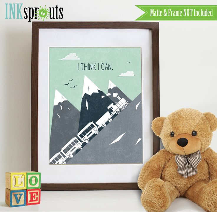 INSTANT DOWNLOAD - I think I can print, Train print, Mountains Print, Train, Dumbo, quote, transportation, landscape, Nursery Print by InkSprouts on Etsy https://www.etsy.com/listing/256939461/instant-download-i-think-i-can-print