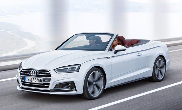 Audi A5 Cabrio (2017) - ... der offenen Mittelklasse aus Ingolstadt zumindest für einige Momente gut verdrängen. Vier Monate vor dem Marktstart haben die Bayern die ersten Fotos und Fakten ...