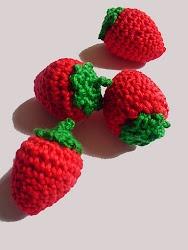 Gratisanleitung Häkel-Erdbeeren - Tuto de fraises