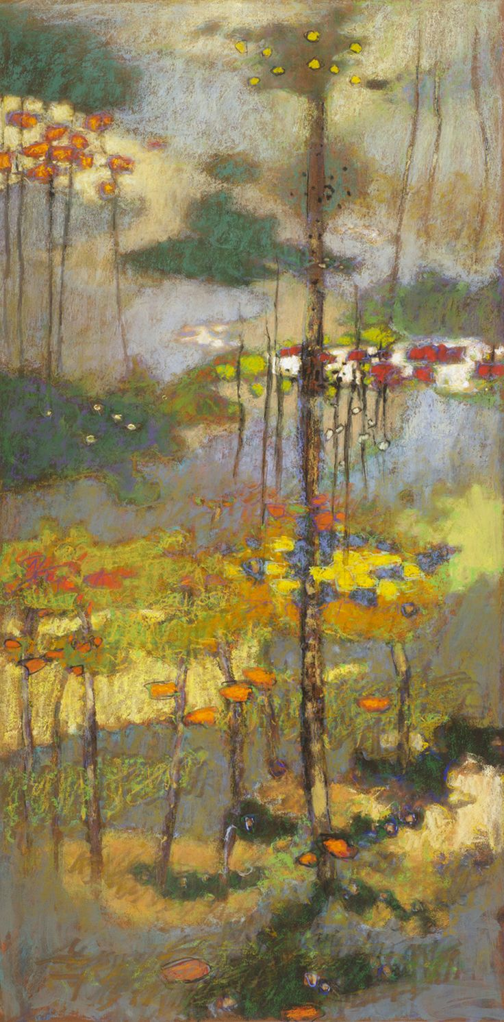 "Atmospheric Suspension | pastel on paper | 40 x 20"" | 2014 Rick Stevens"