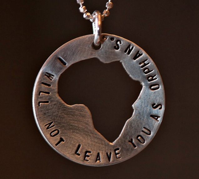I Will Not Leave You As Orphans necklace, $45  - all profits going to missions