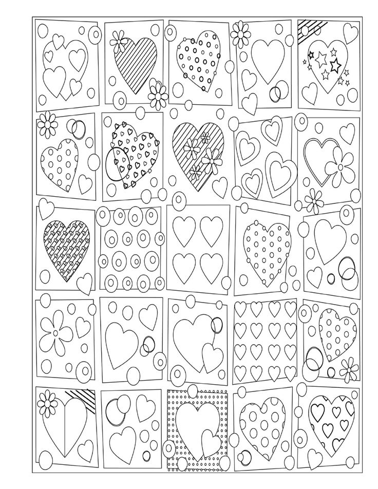 Adult Coloring Valentine's and St Patrick's Day