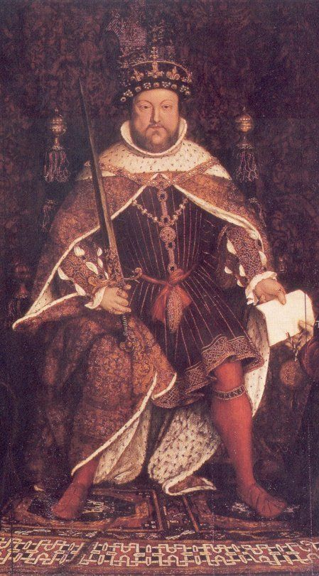Henry VIII became King of England, on this day 21st April, 1509 on the death of his father Henry VII