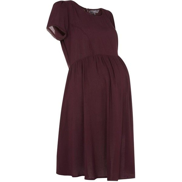 Maternity Burgundy Tea Dress ❤ liked on Polyvore featuring maternity, dresses, maternity clothes and maternity dress