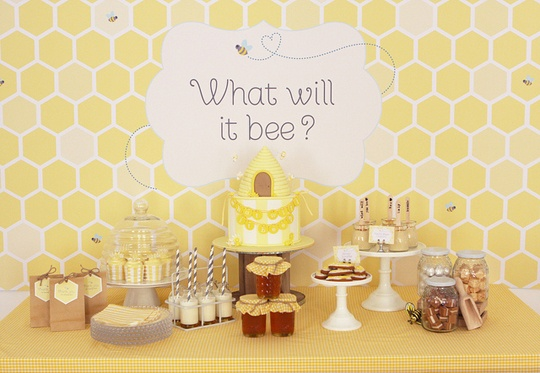 """Unknown sex baby shower - """"What will it bee?""""!"""
