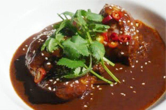 Mole de Chile Chipotle con Plátano Macho (Chipotle and Plantain Mole Sauce)