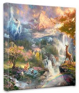 Bambi - Bambi's First Year - Gallery Wrapped - Thomas Kinkade - World-Wide-Art.com - $79.00 #Disney #Kinkade
