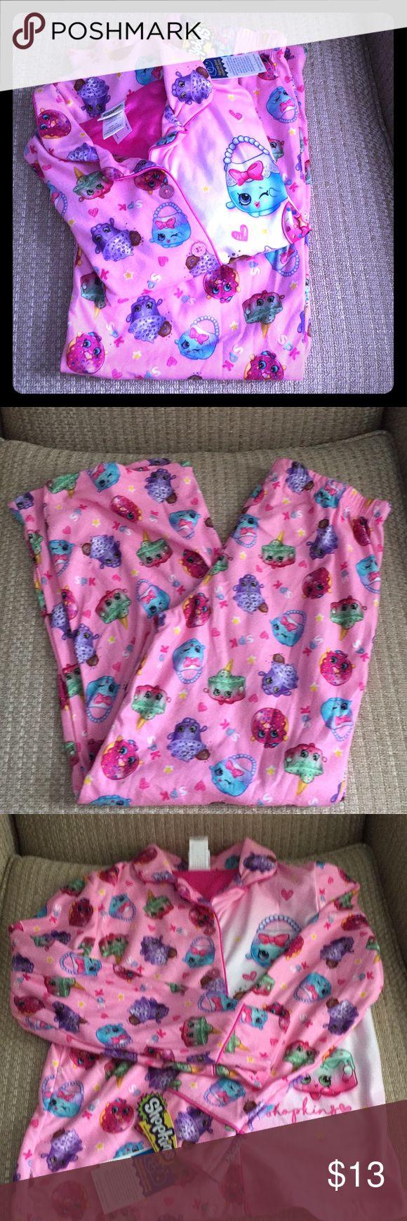 Girls Shopkins Pajamas Size 10 Adorable girls pajamas. Never worn! Shopkins Pajamas Pajama Sets