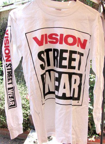 Vintage Vision Street Wear Skateboard Long Sleeve T Shirt   eBay