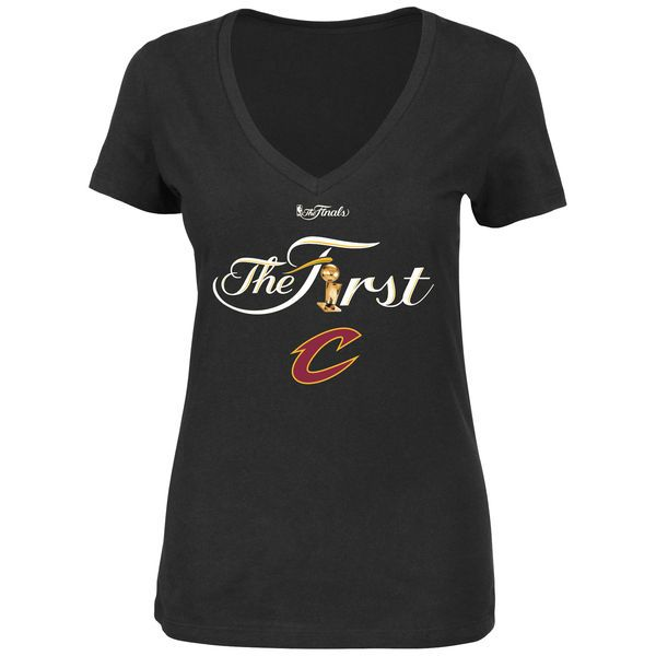 Cleveland Cavaliers Majestic Women's 2016 NBA Finals Champions First Trophy V-Neck T-Shirt - Black - $20.99