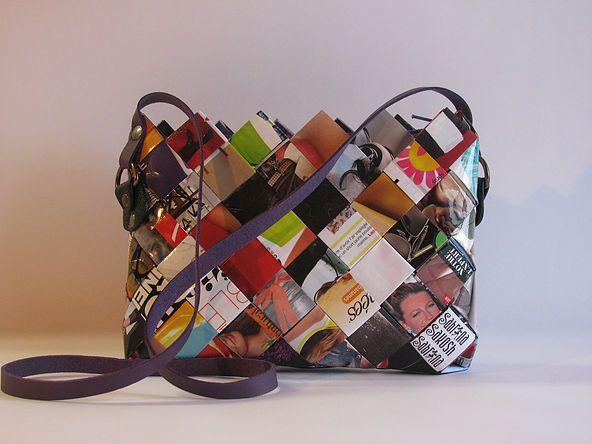 Sabrina Sakosh Recycled Paper Handbags Montreal Canada