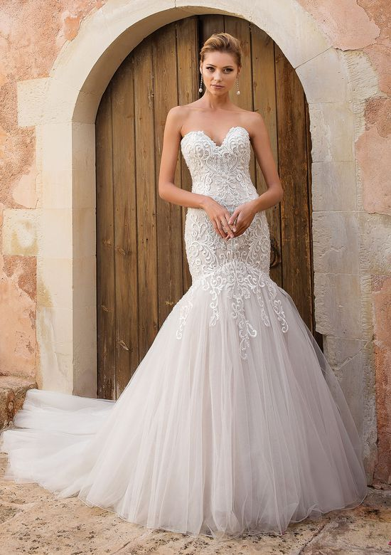 ddee2fe9543 Available at Adore Bridal Boutique! www.adorebridalga.com Justin Alexander  - Style 88051  Dropped Waist Trumpet Gown
