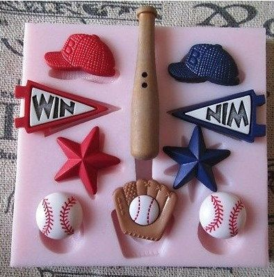 Baseball Hat Star Polymer Clay Mold Flexible Silicone Mould For Handmade Soap Candle Candy Cake Fimo Resin Crafts