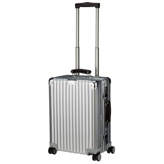 Rimowa Classic Flight Multiwheel Cabin Trolley IATA 55 cm Lufthansa - Size - silber - koffer-direkt.de - Bei Rimowa anfragen, ob man den Koffer ohne Lederdetails bekommen kann.