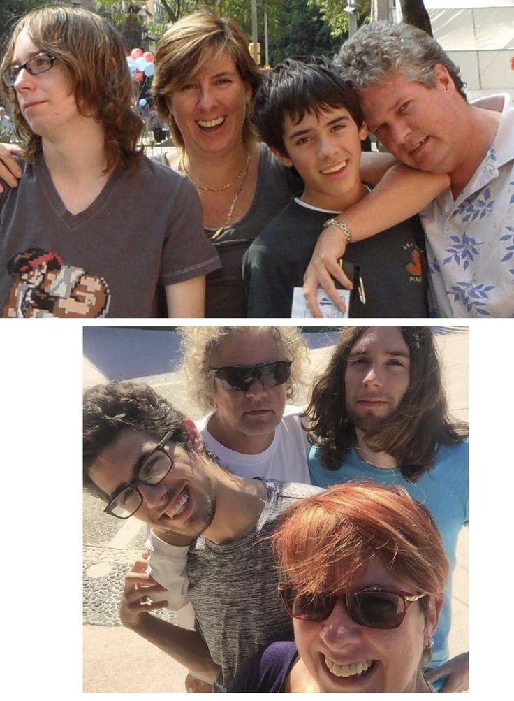 Nosotros 4  Fede con su papá Ale conmigo su mamá y con su amado hermano mayor Julián  Fotos del 2011 y el 2016 última fotografía juntos