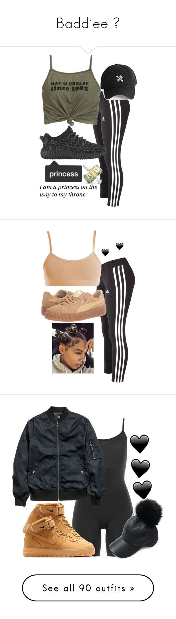 """Baddiee ✨"" by bxbysnoop ❤ liked on Polyvore featuring adidas, 21 Men, Puma, SPANX, H&M, NIKE, Original Penguin, Bobbi Brown Cosmetics, Hollister Co. and Karl Lagerfeld"