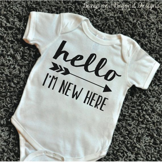 Take Home Outfit Hello I M New Here Birth Announcement
