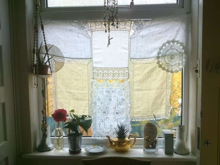 Made from vintage table linens