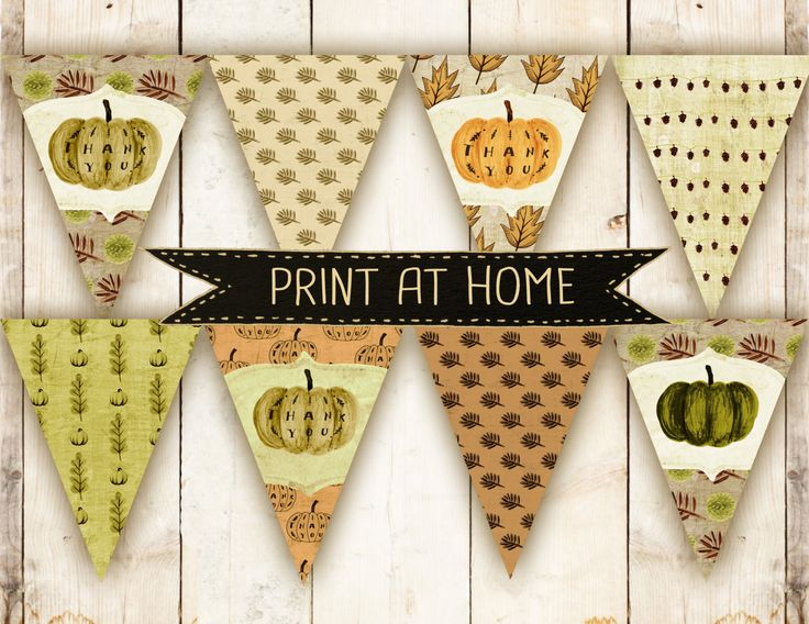 A personal favorite from my Etsy shop https://www.etsy.com/listing/250345429/printable-fall-bunting-banner-hand