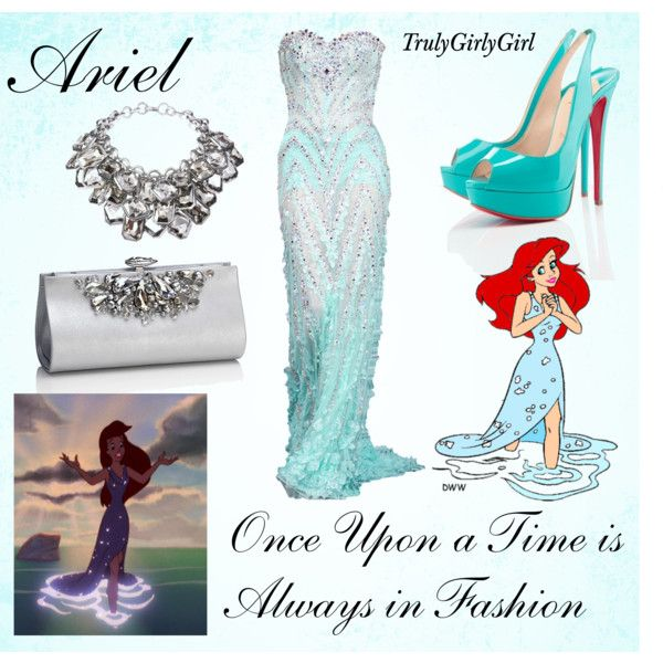 Disney Style: Ariel formal gown created by trulygirlygirl on Polyvore - The Little Mermaid