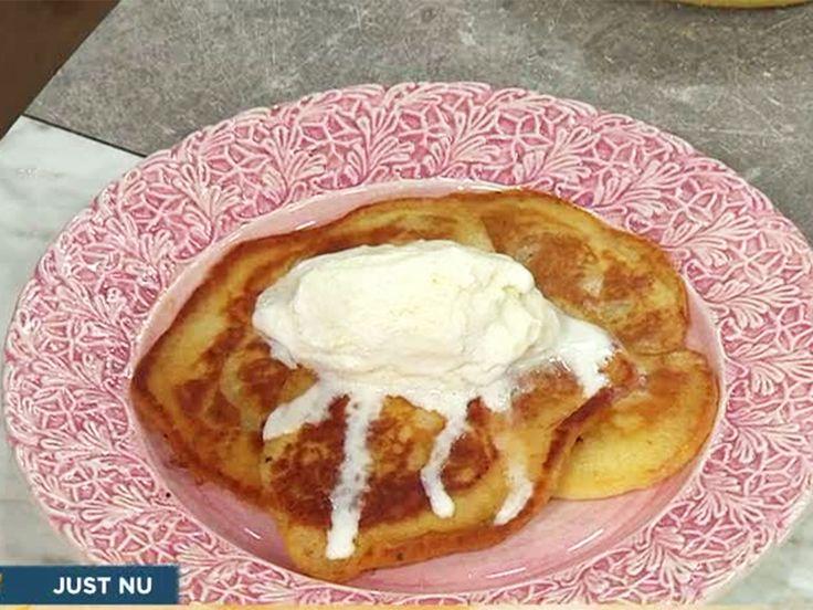 Äggfria pannkakor med kardemumma och banan | Recept från Köket.se