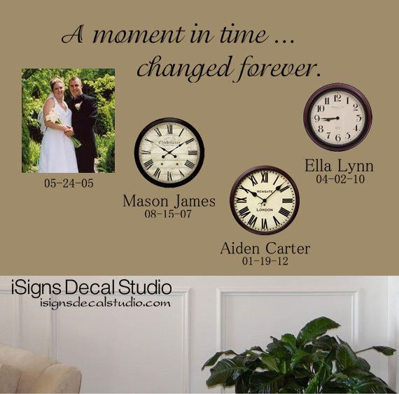 A Moment In Time Changed Forever Time Clock by iSignsDecalStudio