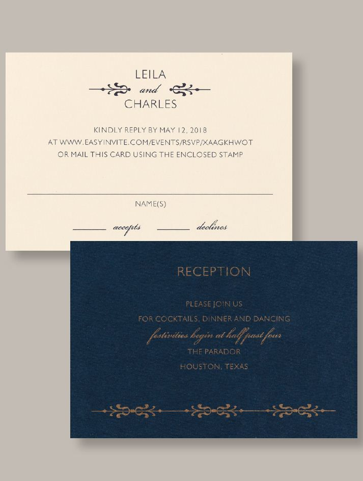reply to wedding invitation m%0A Baltimore u    s source for wedding invitations  the Custom Printing department  at Greetings  u     Readings of Hunt Valley is ready to help