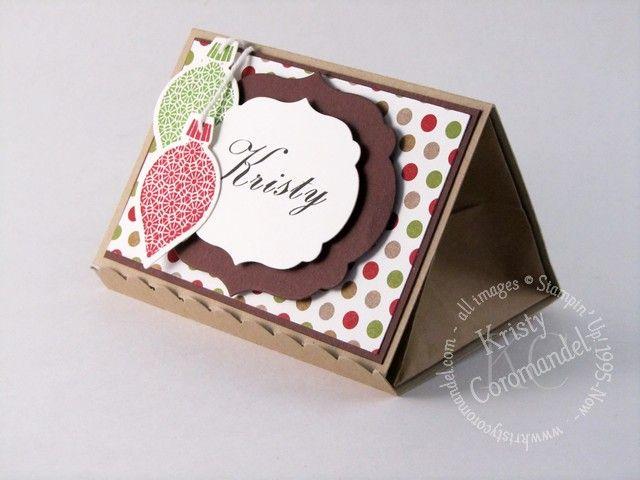 Place Card Treat holder - Ornament Keepsakes. Photo tutorial available www.kristycoromandel.com