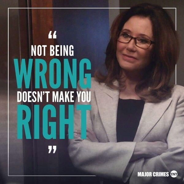 Sharon knows best! #Major Crimes