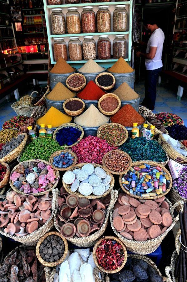 Marrakesh, Morocco spice market