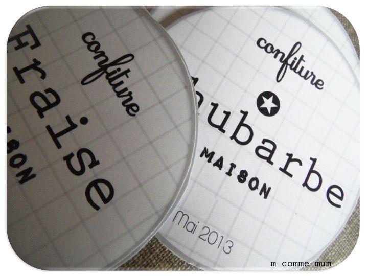 étiquette home made pour confiture