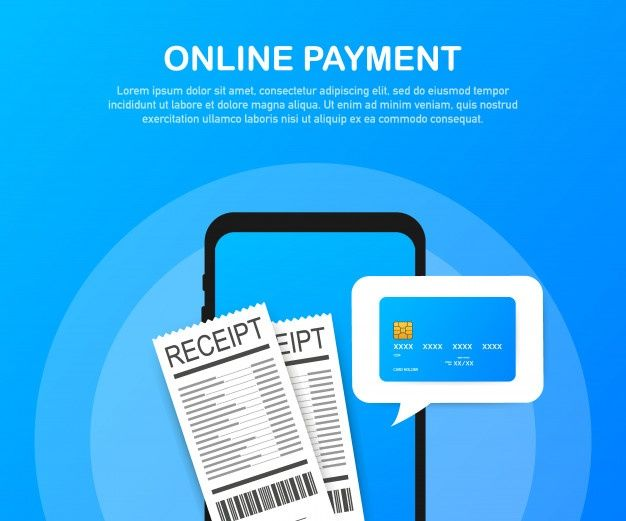 Online Payment On Computer Financial Accounting Electronic Payment Notification Card Transfer Credit Card Online Credit Card