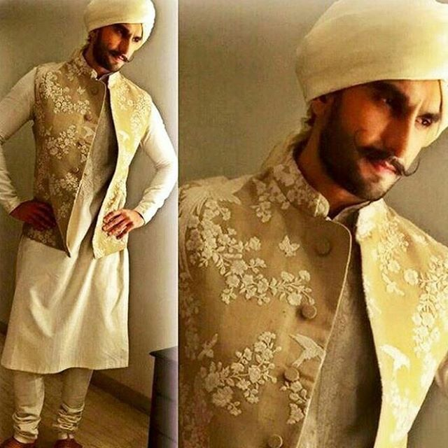 #SabyasachiMukherjee #Sabyasachi #Menswear #Kurta #Jacket #Exquisite #Embroidew #ThreadWork #HandCraftedlnlndia #lndian #Tradition #Turban #Regal #Royal #Dapper #TheDandyMaharaja @ranveersingh #RanveerSingh #Actor #Bollywood #DiwaliCelebrationsZO15 #TheWorIdOfSabyasachi #StyledBy @nitashagaurav